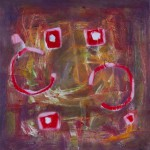 Quadrate Kreise Rot Rosa 2 | Squares Circles Red Pink 2 | ©Andrea Pandya